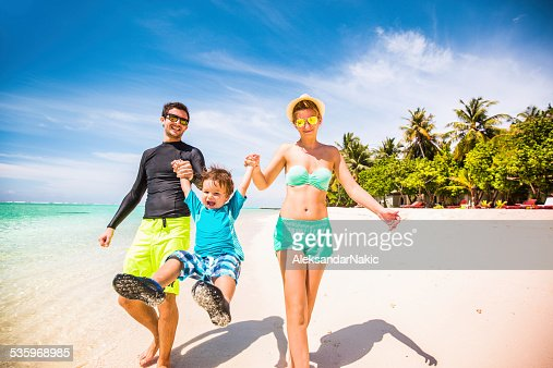 Happy beside the seaside : Stock Photo