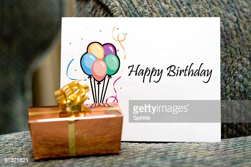 Happy birthday card with a gift