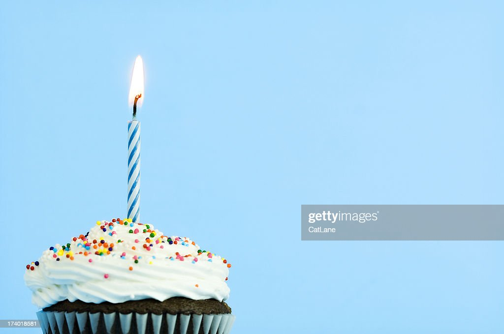 Happy Birthday Cupcake : Stock Photo