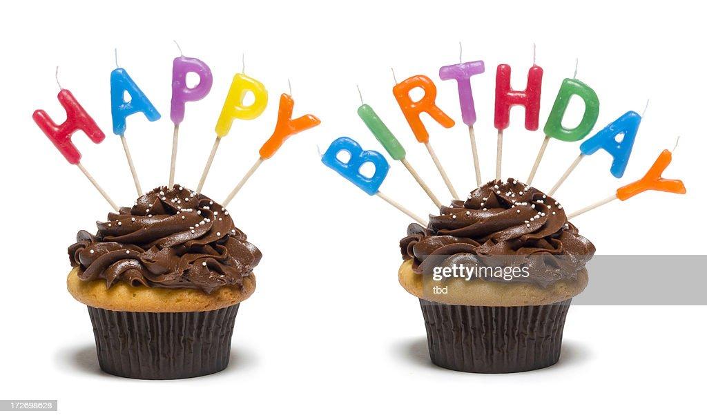 Happy Birthday Cupcakes : Stock Photo