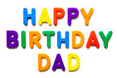 happy birthday written with magnetic letters