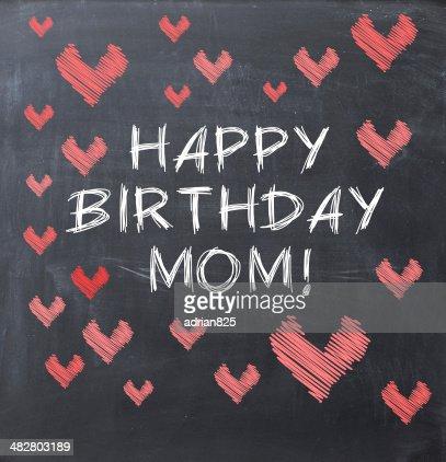 Joyeux Anniversaire Maman Message Sur Un Tableau Noir Photo Thinkstock
