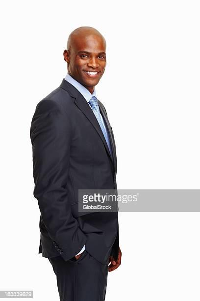 Happy business man posing