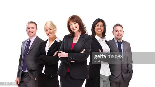 Affaires heureux équipe