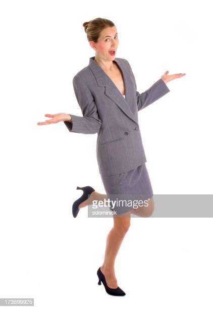 幸せなビジネスの女性