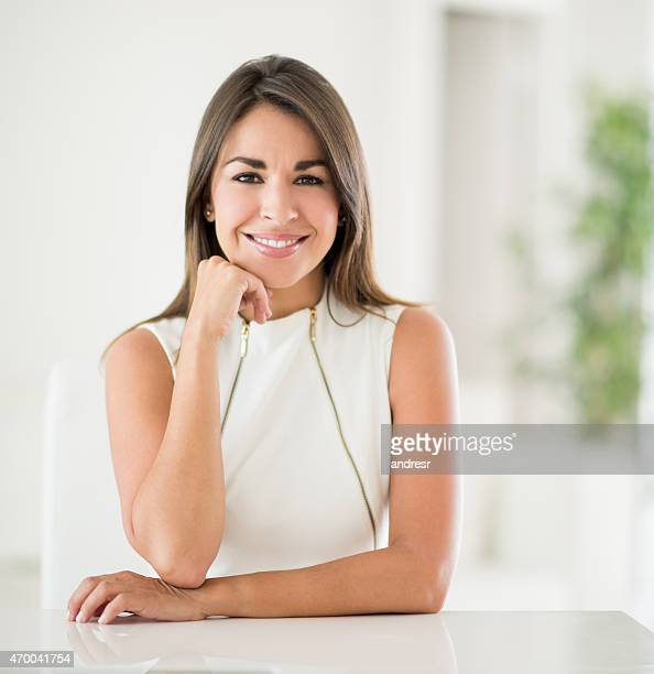 Happy business woman smiling