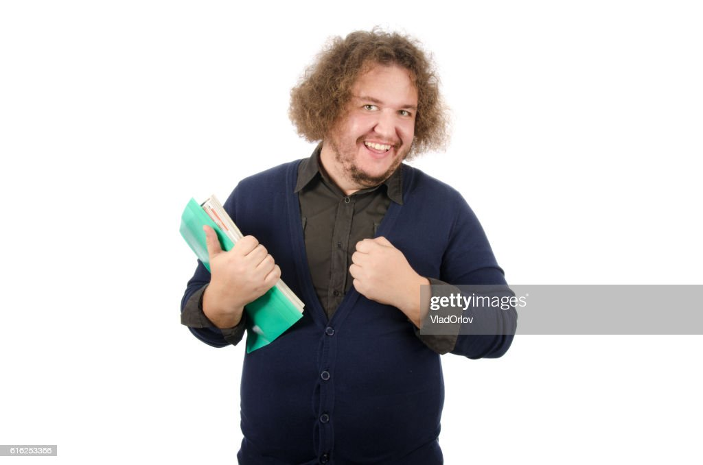 Happy businessman with documents. : Stock Photo