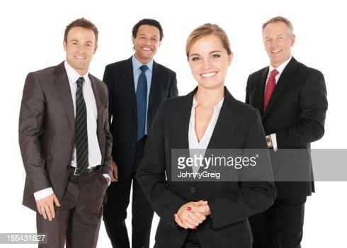 Happy Businesswoman With Team