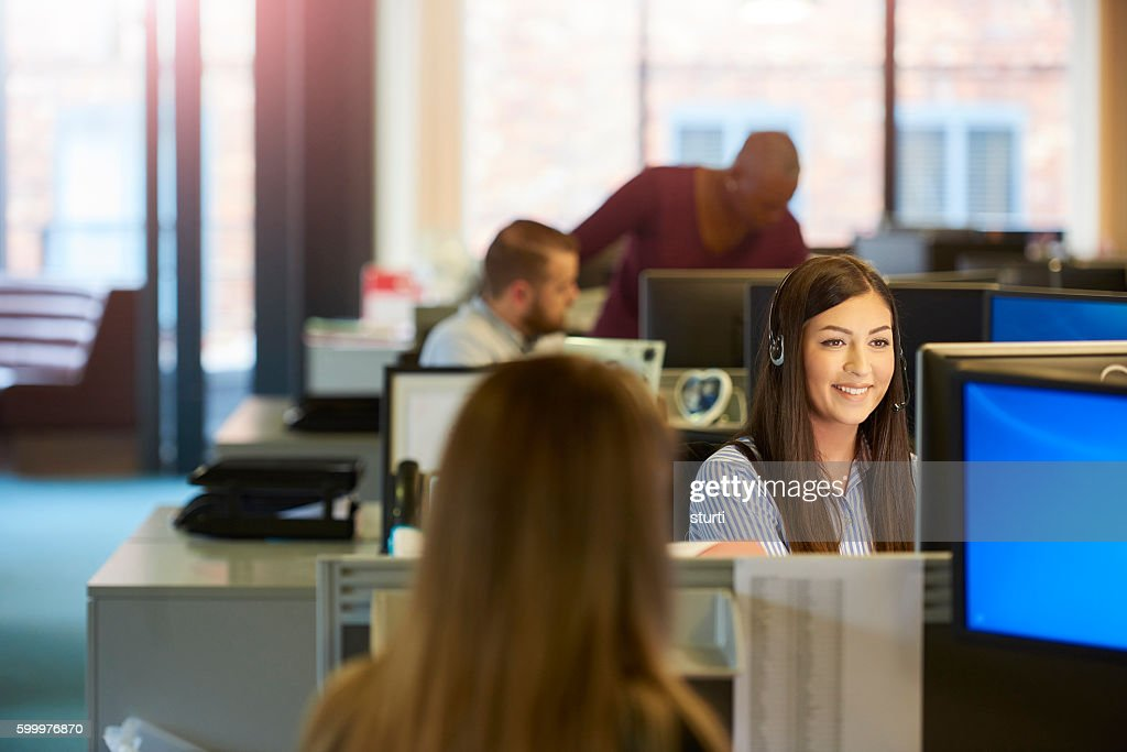 happy call centre : Stock Photo