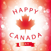 happy canada day greeting card abstract flag background