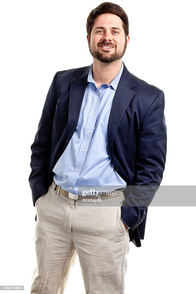 Happy Casual Businessman