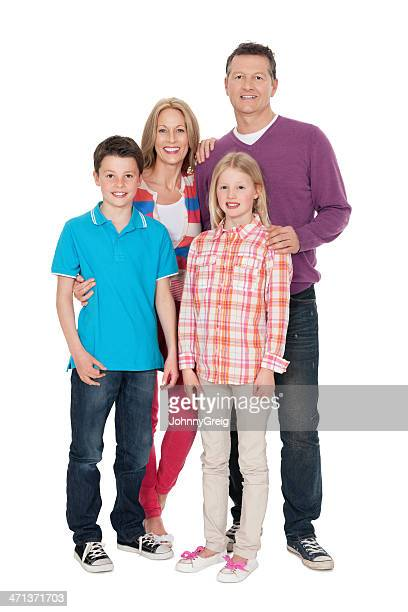 Happy Caucasian Family of Four