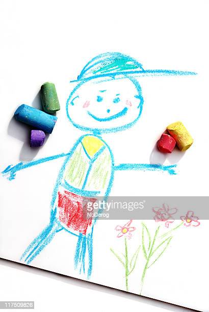 Happy chalk boy