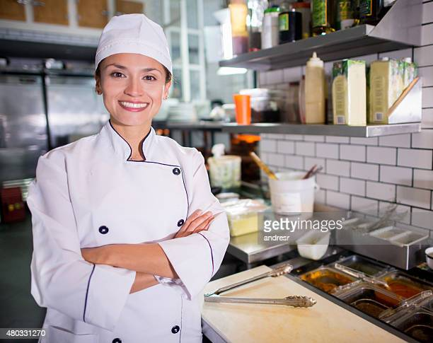 Happy Chef at a restaurant
