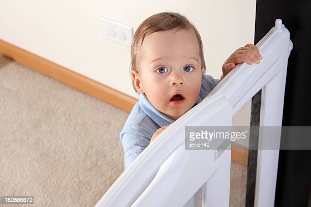 Happy Child at Baby Gate