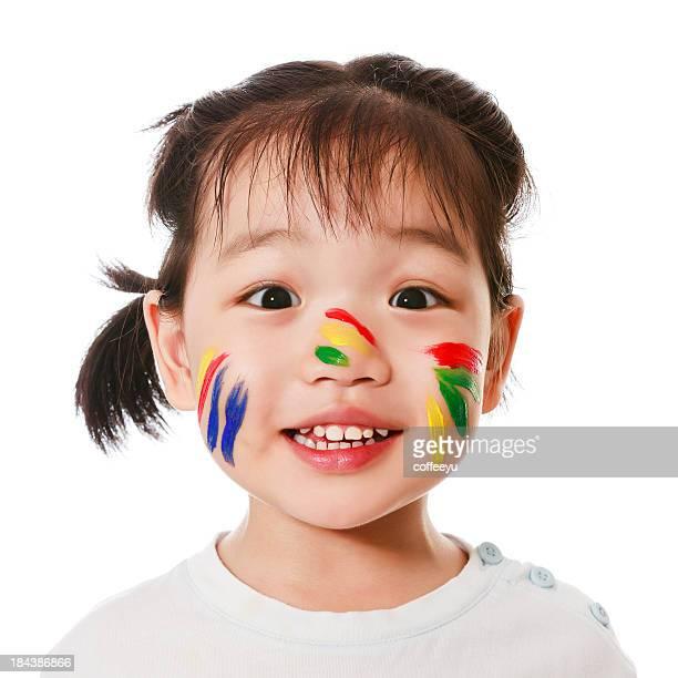 Visage heureux enfant