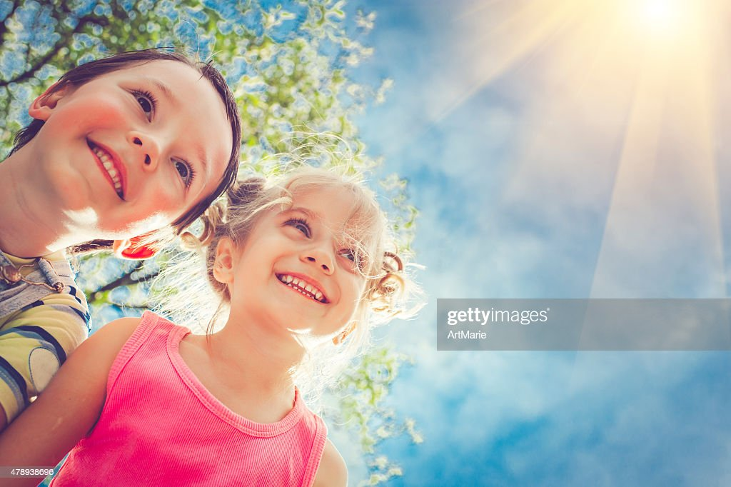 Happy children in summer