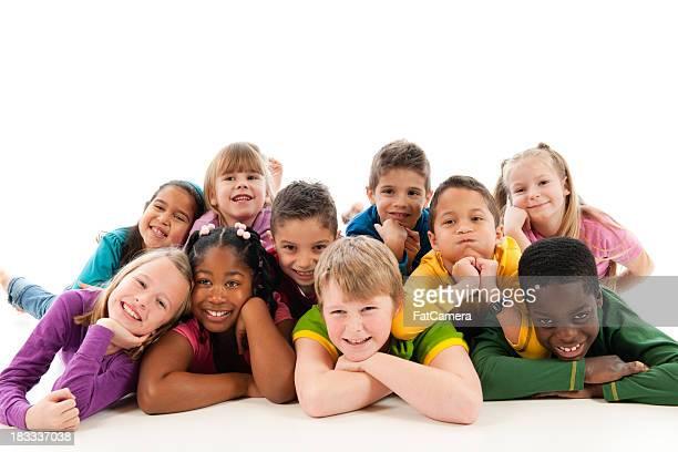 Feliz crianças