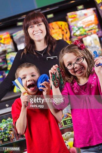 Happy Children with Prizes