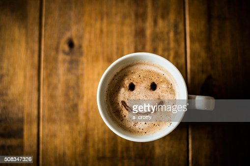 Happy Coffee Cup : Stock Photo