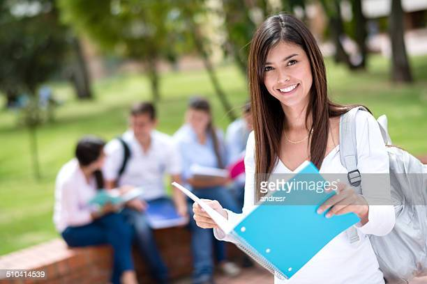 Happy collage student