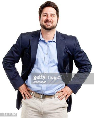 Happy Confident Casual Businessman