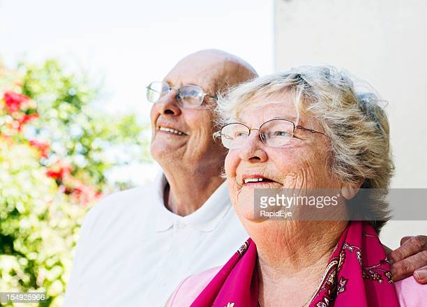 Happy, confident old couple look forward to the future