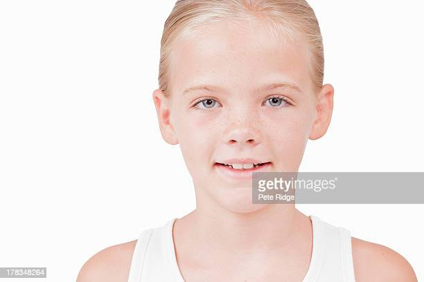 Happy, confident young girl smiling