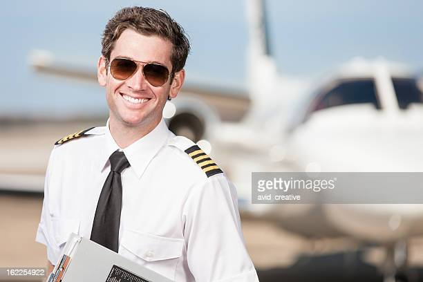 Happy Corporate Pilot Portrait