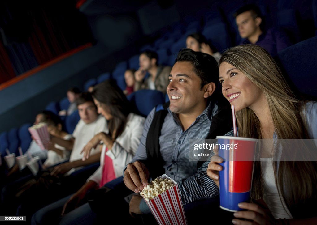 Happy couple at the movies