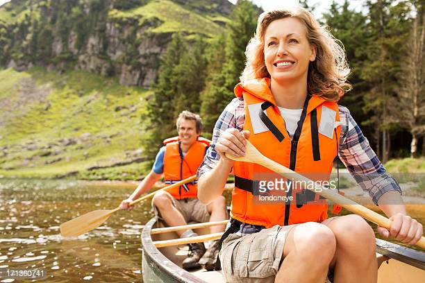 Happy Couple Canoeing