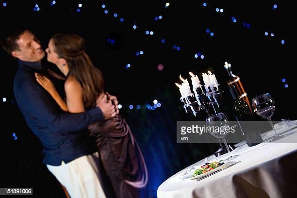 Glückliches Paar feiert