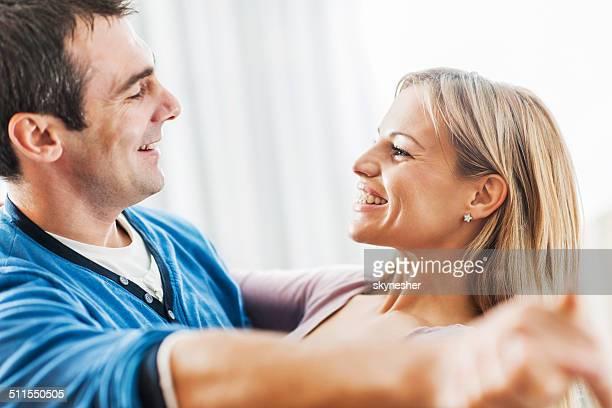 Happy couple dancing.