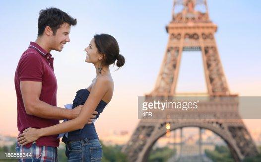 Happy Couple, Eiffel Tower, Paris