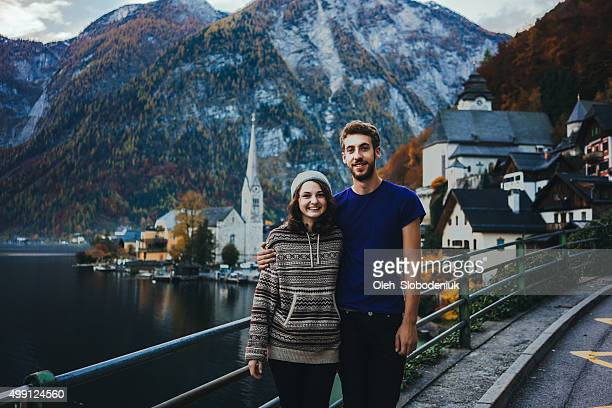 Happy couple in Hallstatt