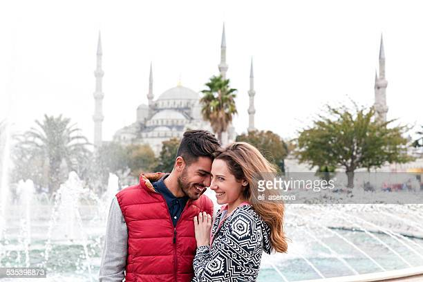 Happy couple in Istanbul