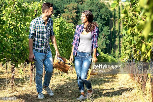 Happy Couple in Vineyard