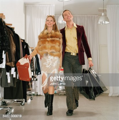 Happy Couple Shopping : Stock Photo
