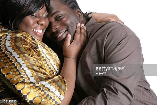 Glückliches Paar Lächeln, Weißer Hintergrund
