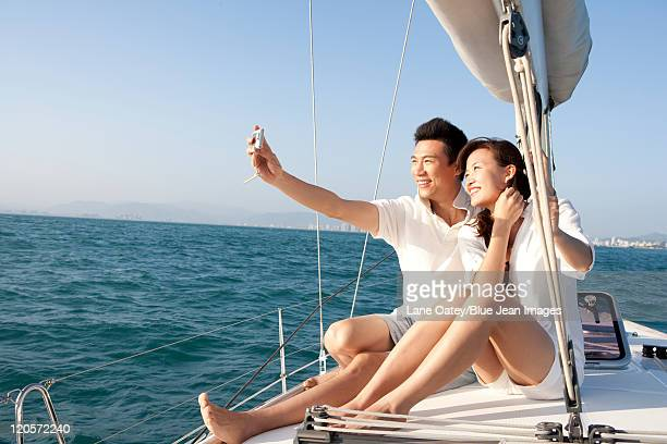 Happy Couple Taking Self Portrait