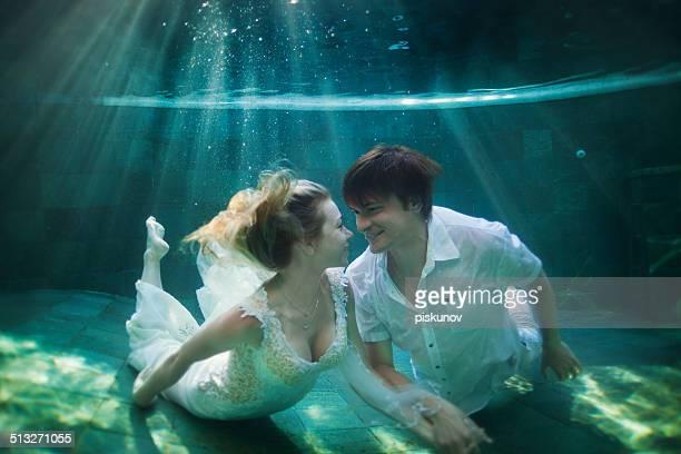 Glückliches Paar Unterwasser