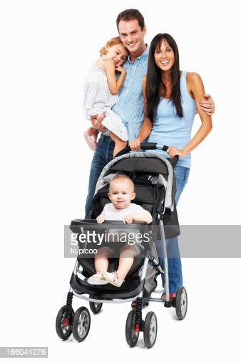 Happy couple with daughters