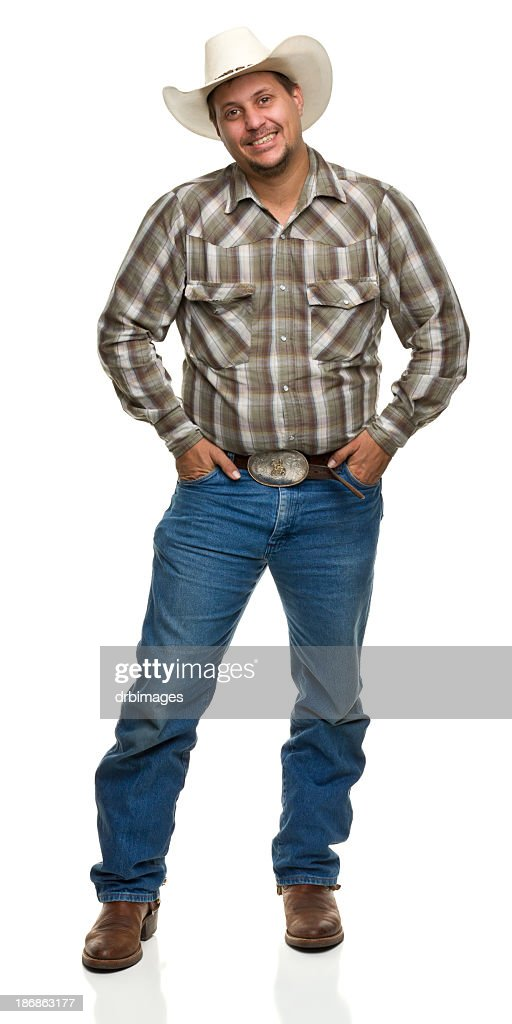 Happy Cowboy With Hands in Pockets