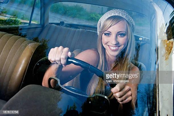 Glückliche Fahrer