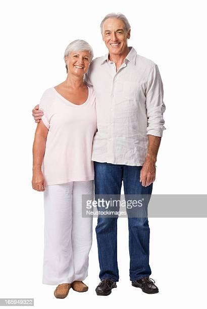 Glückliche ältere paar-isoliert