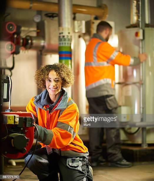 Happy engineer
