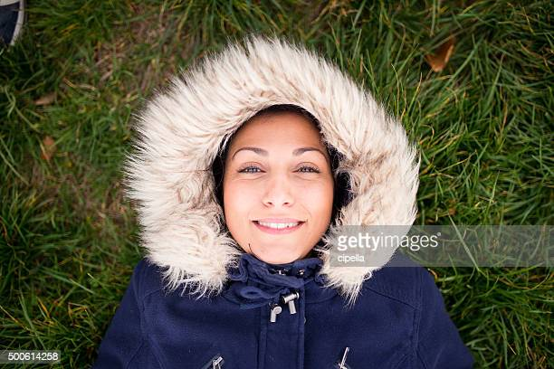 Happy eskimo girl smiling