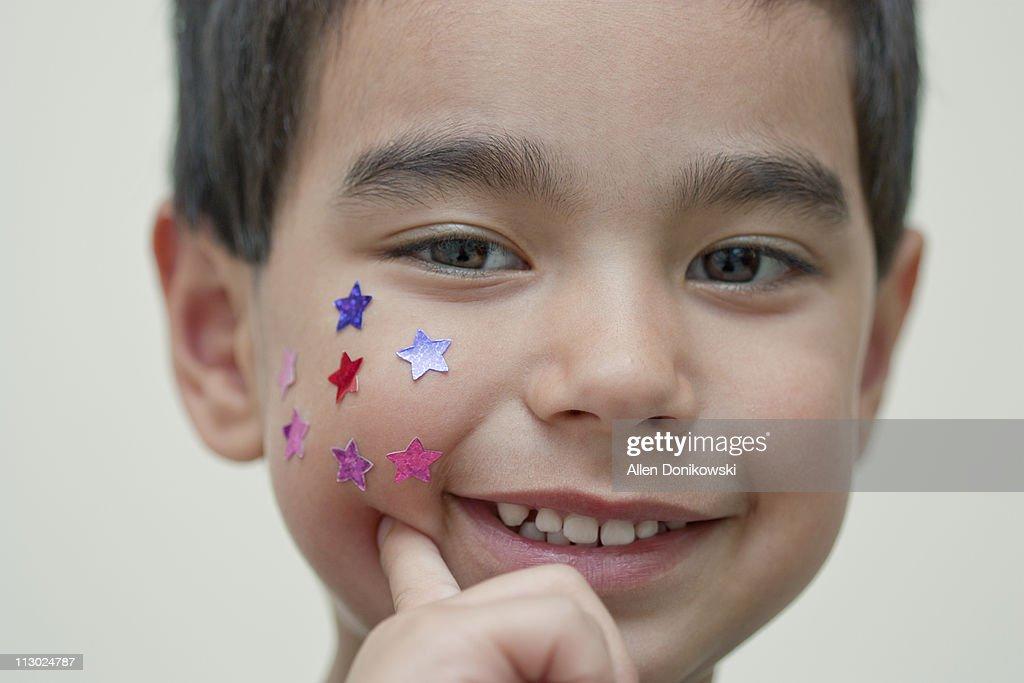 Happy face sticker smile : Stock Photo