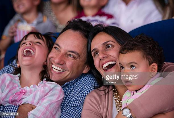 Happy family at the cinema