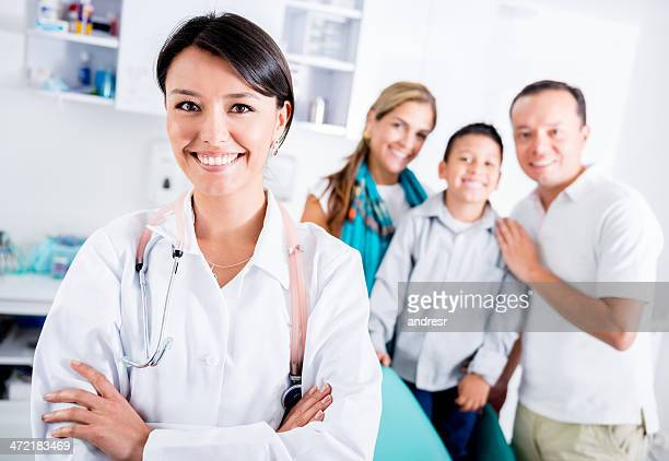 Happy family doctor